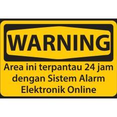 Sticker Stiker Sticker WARNING ALARM, stiker untuk alarm rumah online GSM/REMOTE/WIFI   untuk di Rumah Ruko Kantor Toko Gudang dll
