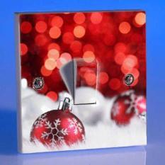 Stiker Tombol Cetekan Lampu Saklar Stop Kontak Motif Natal Christmast