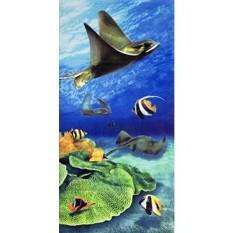Stingray Velour Brazilian Beach Towel 30x60 Inches - intl