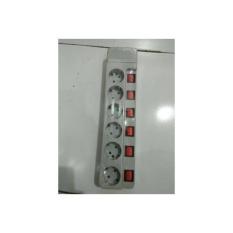 Harga Stop Kontak 6 Lubang Dgn Saklar Masing2 Uticon St1685 Sn Satu Set