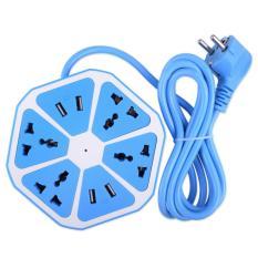 Jual Stop Kontak Usb Hexagon Socket 4 Usb 4 Colokan Kabel Terminal Cable Jawa Barat