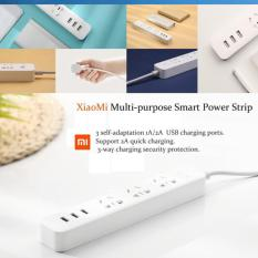 Jual Stop Kontak Xiaomi Mi Smart Power Strip Plug Adapter With 3 Usb Port 2 Xiaomi