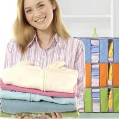 Review Tentang Storage Bag Storage Box Tas Tempat Penyimpanan Pakaian Selimut Bed Cover Warna Random