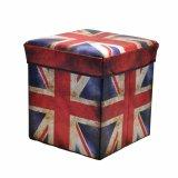 Storage Box British Flag Kotak Serbaguna Sekaligus Bangku 31X31X31Cm Indonesia