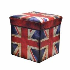 Storage Box British Flag Kotak Serbaguna Sekaligus Bangku 31X31X31Cm Storage Murah Di Indonesia