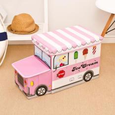 Spesifikasi Storage Box Cartoon Storage Bus Kotak Peyimpanan Mainan Kartun Online
