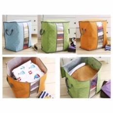 Storage Box Organizer Foldable 50 Liter Keranjang Pakaian Baju Selimut