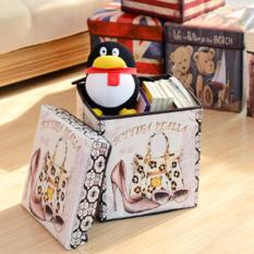 Storage Box / Storage Stool / Tempat Mainan / Majalah / Box Simpan/ Toy Box Seat Vintage - Bottega Italia By Babymaniashop.