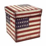 Jual Storage Box Us Flag Kotak Serbaguna Sekaligus Bangku 31X31X31Cm Storage Original