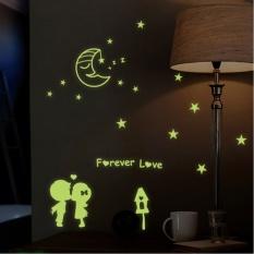 Lampu Jalan Pecinta Removable Wall Stiker Noctilucence Art DecalsDecors Yang WARNA-WARNI untuk Wanita-Intl