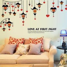 Lampu Jalan Heart Shaped Wall Sticker Decal Home Kertas PVC MuralsHouse Wallpaper Kamar Tidur Anak-anak Babys Ruang Tamu Art PictureDecoration- INTL