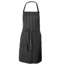 Stripe Apron Chef Pelayan BBQ Restaurant Home Kitchen Memasak Hitam dan Putih Stripe Celemek-Internasional