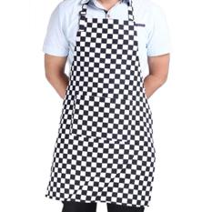 Garis Oto Apron With 2 Saku Juru Masak Pelayan Dapur Masak Baru Alat