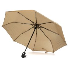 Toko Strong Auto Open Close Windproof Sun Tri Folded Folding Telescopic Umbrella Khaki Terlengkap Hong Kong Sar Tiongkok