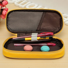 Harga Termurah Siswa Kanvas Pena Casing Pensil Case Kosmetik Sikat Kantong Casing Perjalanan Organizer Mhestore2009 Putih Kuning Intl