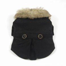 Bergaya Kecil Hewan Peliharaan Kucing Anjing Musim Dingin Pakaian Jaket Mantel Kostum Hitam A € S Not Specified Diskon