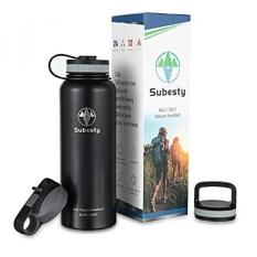 Subesty 40 Oz Vacuum Insulated Stainless Steel Botol Air dengan IDS Mulut Lebar Leak Proof dan Powder Coating Botol Air untuk Tetap Minum Panas & Dingin untuk Berjalan Bersepeda Hiking-Intl