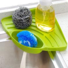 Suction Cup Dapur Kamar Tidur Wastafel Rak Penyimpanan Pemegang Alat Hijau