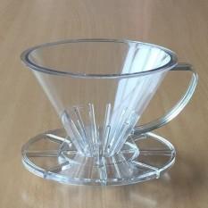 SUJI Pourover Dripper 01 Clear-Coffee Kopi Plastic V60 Alat Seduh