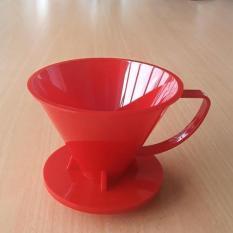 SUJI Pourover Dripper 01 Red Solid-Coffee Kopi Plastic V60 Alat Seduh