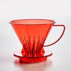 SUJI Pourover Dripper 02 Red-Coffee Plastic Dripper V60 Alat Seduh