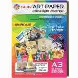 Penawaran Istimewa Sun Kertas Art Paper 260 Gsm A3 1 Pack Isi 50 Lembar Terbaru