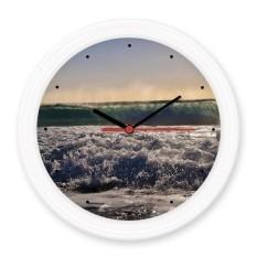 Sunshine Laut Gelombang Udara Gambar Diam Tidak Berdetak Bulat Dinding Dekoratif Jam Baterai Motif rumah Stiker-Internasional