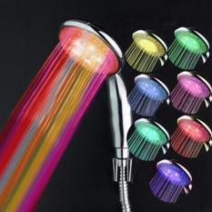 Sunshop 7 Warna Wireless LED Lampu Kepala Mandi Berubah Otomatis Keselamatan Berubah Warna Bathroom Faucet Penggantian Shower Spray Romantis Mandi Pengalaman-Intl