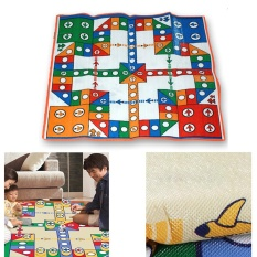 Diskon Sunshop 82X82 Cm Orang Tua Anak Interaktif Flying Chess Ludo Game Rug Mats Baby Crawling Karpet Internasional Sunshop