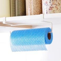 Sunshop Tidak-instalasi Besi Dapur Tisu Pemegang Menggantung Mandi Toilet Roll Paper Towel Rack Pintu Kabinet Kait-Internasional