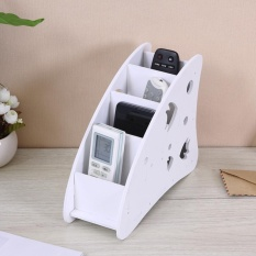 Sunshop Kayu Papan Plastik Pen Phone TV Remote Control Holder Meja DIY Multifungsi Kotak Penyimpanan-Intl