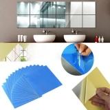 Diskon Sunwonder Baru 16 Pcs Acrylic Square Cermin Dinding Stiker 5 9 Dengan 5 9 Inch 3D Removable Decal Home Wall Dekorasi Diy Intl Tiongkok