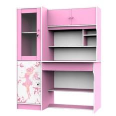 Super Meja Belajar Besar Anak 1560 Pink - Khusus Jabodetabek