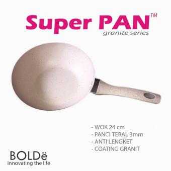 Super PAN BOLDe, Granite series 24 cm WOK / Wajan