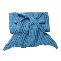 Super lembut tangan rajutan ekor putri duyung dewasa selimut Sofa Danau Biru - Internasional