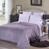 Harga Super Lembut Hangat Solid Hangat Micro Plush Fleece Selimut Throw Rug Sofa Bedding Grey 150 200 Cm Intl Paling Murah