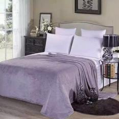 Jual Super Lembut Hangat Solid Hangat Micro Plush Fleece Selimut Throw Rug Sofa Bedding Grey 150 200 Cm Intl