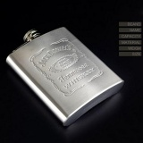 Toko Jual Super Star Mall Hot Fashion Portable Engraved 7 Oz Stainless Steel Hip Flask Dipersonalisasi Termos Warna Stainless Steel Intl