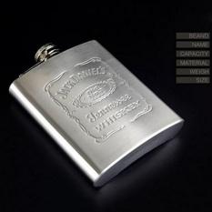 Toko Super Star Mall Hot Fashion Portable Engraved 7 Oz Stainless Steel Hip Flask Dipersonalisasi Termos Warna Stainless Steel Intl Tiongkok