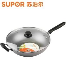 SUPOR FC32E/FC34E Penolong Yang Baik Wok, Casting Iron Pan, Tidak Dilapisi Pan Umum (32 Cm) -Intl