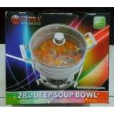 Jual Beli Supra Deep Soup Bowl 28Cm Glass Lid Panci Prasmanan Pemanas Sayur Di Jawa Barat