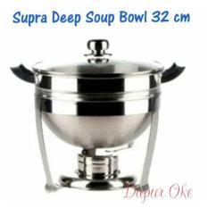Harga Termurah Supra Deep Soup Bowl 32 Cm Tutup Kaca Tempat Prasmanan