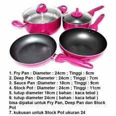 Supra Rosemary Cookware Supra Panci Set 7Pcs Pink Wine Dki Jakarta