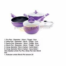 Jual Supra Rosemary Cookware Supra Panci Set 7Pcs Unggu Grosir