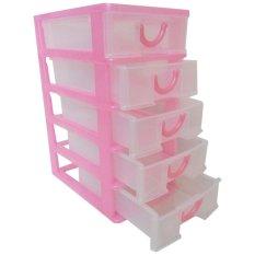 Supranusa Komet Star Mini Storage Container S Susun 5 - Pink