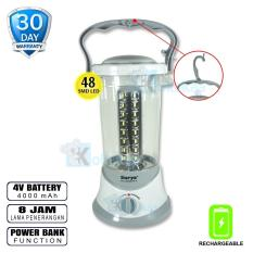 Surya Lampu Emergency Petromak Besar SHL L4803X SMD 48 LED + Power Bank Function with Dimmer Switch Rechargeable 8 Hours