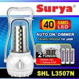 Jual Surya Lampu Emergency Petromak Shl L3507N Smd 40 Led With Dimmer Switch Rechargeable 14 Hours Murah Di Dki Jakarta