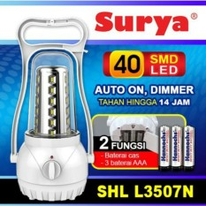 Surya Lampu Emergency Petromak SHL L3507N SMD 40 LED with Dimmer Switch Rechargeable 14 Hours