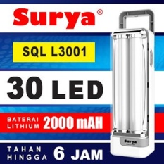 Surya Lampu Emergency Sql L3001 Light Led 30 Smd Rechargeable Tahan 6 Jam By Elektronik Rumah
