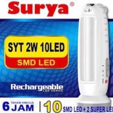 Surya Lampu Emergency SYT Light LED 10 SMD + Senter 2W Super LED Rechargeable 6 Hours